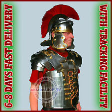 Roman Lorica Segmentata Segmenta Armor + Roman Centurion Helmet Armour Costume