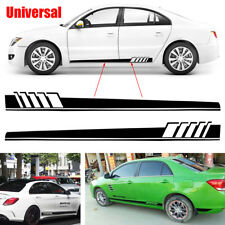 2Pcs Car Body Long Stripe Stickers Decals Side Skirt Vinyl For acing Car