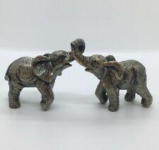 Miniature figure figurine Elephant safari wild animal ornament silver home deocr