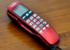 NEW Red Wall Mount Corded Phone Telephone Home Office Desktop Phone Caller  ID