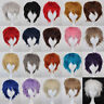 20 Color Classic Anime Short Straight Cosplay Wigs Heat Resistant Synthetic Hair