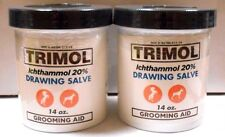 Ichthammol Ointment USP 20% Drawing Salve 14oz Jar -2 Pack -Exp. Date 03-2019