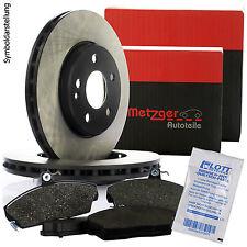 2 METZGER Bremsscheiben 280mm + METZGER Bremsbeläge Set hinten für FORD / VOLVO