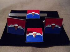 7 Para RHA Cufflink / Tie slide/ lapel pin set, parachute,  Horse Artillery, RA