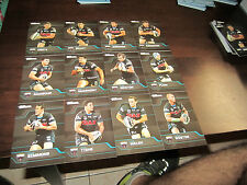 2013 NRL TRADERS PENRITH PANTHERS COMMON TEAM SET 12 CARDS MANSOUR JENNINGS
