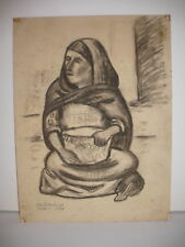 LISTED OTTO ROTHENBURGH MEXICAN WOMAN MEXICO DRAWING