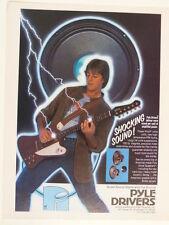 retro magazine advert 1983 PYLE DRIVERS gibson fire bird