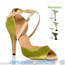 Ladies Prom Party Ballroom Latin Tango Waltz Salsa Dance Shoes Heels Sandals 5-9