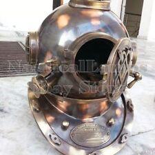 "Boston Navy Divers Helmet Mark V Brass-Copper Antique Diving Helmet 18""- Replica"