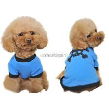 Blue Pet Puppy Cotton T-shirt Cute Skull Pattern Summer Smooth Dog Coat Size M