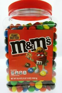 Peanut Butter M&M's Brand Chocolate Candies m and m ~ Candy ~ 55oz Pantry Size