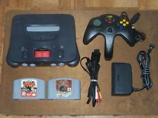 Nintendo 64 N64 Charcoal Grey Console w/ Expansion Pak w/ 2 Games
