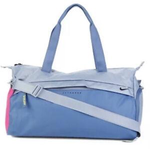 Nike Radiant Duffel Bag Gym Sports Fitness Grip Shoulder Bag New Blue