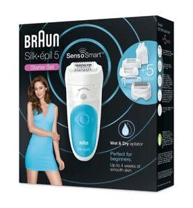 Braun Silk-epil 5 SensoSmart 5/890 Wet & Dry Starter Set + 5 Extras