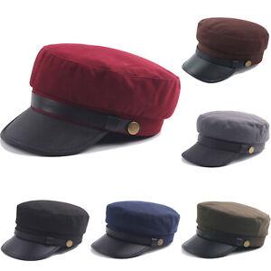 Unisex Women Men French Beret Cap Cadet Military Newsboy Sailor Trucker Flat Hat