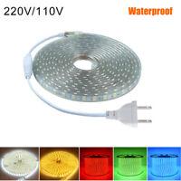 LED Flexible Tape Rope Strip Light 1-20m SMD 5050 Outdoor Waterproof 110V/220V