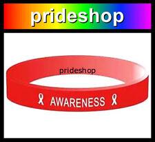 AIDS Awareness Silicone Wristband Gay Lesbian GLBTIQSTR8 Wrist Band #946