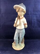 "Lladro Figurine #7610 ""Can I Play?"" Boy with Baseball & Bat - Collectors Society"