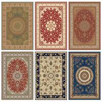 Traditional Area Rug Persien Carpet Oriental Floor Mat Non-Slip Runner All Sizes