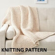 (158) Blanket Throw COPY Knitting Pattern, Quick and Easy Knit in Super Chunky