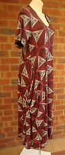Plus size dress size 14-16 NEW  short sleeves loose fit long rectangular print