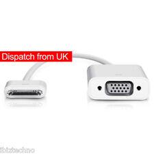 iPad 2 3 iPhone 4S Dock Connector to VGA Adaptor Cable Lead Projector iOS 9