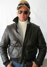 Premium Vintage 40s R Sherman,  Brown  Leather Jacket, Size 40 Fonz Look