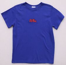 OLE MISS BOY'S YOUTH SIZE 10 ROYAL BLUE SHORT SLEEVED TEE T-SHIRT VIVE LA FETE