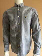 Lyle & Scott Shirt Mens Size Medium Long Sleeve Blue Stripe Lightweight