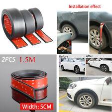 50mm Width Car Wheel Arch Protect Strip Rubber Fender Moulding Flares Trim Black