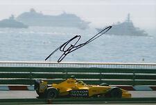 Ralph Firman Hand Signed Jordan Ford F1 12x8 Photo 4.