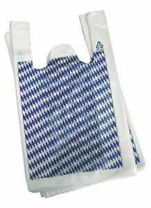"""2000 Stück Hemdchentragetaschen """"bayrische Raute"""" - 26+12x47 cm"""