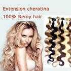 100 REMY HAIR EXTENSION MOSSI capelli VERI 100% CHERATINA CIOCCHE 0,5g 53cm