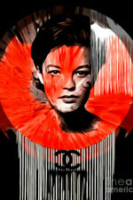 Motiv Romy Schneider 120 x 80  Pop Art/Malerei/StreetArt/Leinwand/Kunstdruck/XXL