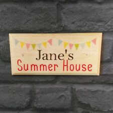 Personalised Summer House Plaque / Sign - Bunting She Shed Name Mum Nan Garden