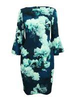 Calvin Klein Women's Floral-Print Bell-Sleeve Sheath Dress