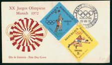 Mayfairstamps Dominican Republic 1972 Olympics Combo First Day Cover wwp1165