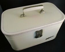 Vintage White Lady Baltimore Train Case EUC