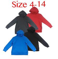 Brand New kids boys girls Red Black Blue Grey Hoodie Jumper 4 5 6 10 12 14