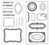 2 Sets Stamps - Journal, Journaling, Frames, Diary, Brackets, Surrounds, Borders