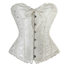 Women's Vintage Corset Top Bustier Overbust Gothic Lingerie Basque Elegant Dress