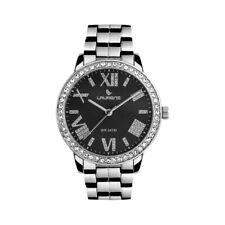 Orologio Donna LAURENS 30132BB Bracciale Acciaio Nero Swarovski