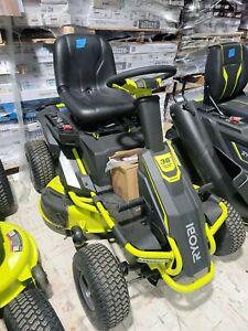 RYOBI 38 in. 75 Ah Battery Electric Riding Mower (RY48110) RM480E SALESMAN SAMP