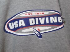 "USA Diving Team Hoodie Sweatshirt 2XL 46"" Chest USA Screen Print"