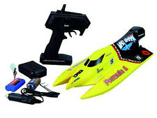 Rc bateau de course Chow Mad shark 2,4 GHz 30km/h 43cm 2,4 GHz avec batterie NEUF