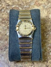 *Omega Constellation 795.1080 Ladies SS 18k Two Tone Wristwatch PreOwned FS BIN