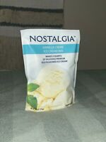 *Lot Of 3* Nostalgia VANILLA ICE CREAM MIX Each 8 oz bag Makes 2 Quarts. NEW.