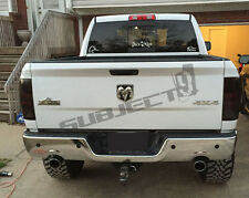 09-18 Dodge Ram 3 pcs precut tail light tint vinyl smoked covers $5 refund avail