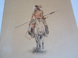 Antique Charles Schatzlein 1907 Watercolor Charles Russell's Friend & Art Dealer