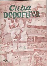 CUBA SPORTIVA 1941 PREMIERE ISSUE-CUBAN SPORTS PLUS GIANTS,DODGERS,ETC.